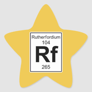 Rf - Rutherfordium Star Sticker