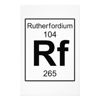 Rf - Rutherfordium Stationery