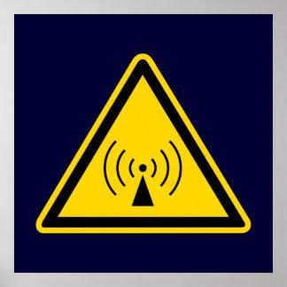 rf Warning Sign Poster