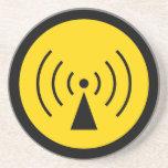 rf Warning Symbol Coaster