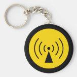 rf Warning Symbol Keychain