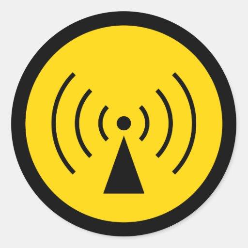 rf Warning Symbol Sticker