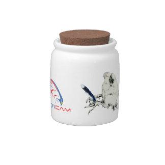 Rfalconcam artist touch Jar Candy Jar