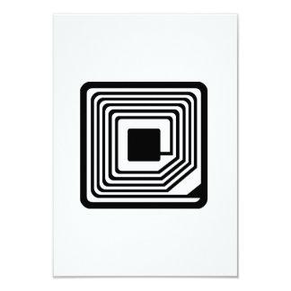 RFID Microchip 3.5x5 Paper Invitation Card