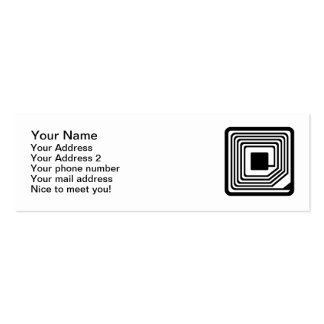 RFID Microchip Double-Sided Mini Business Cards (Pack Of 20)