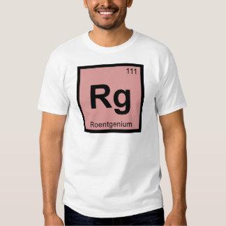 Rg - Roentgenium Chemistry Periodic Table Symbol T Shirts
