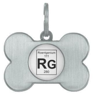 Rg - Roentgenium Pet ID Tag