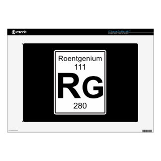 Rg - Roentgenium Portátil Calcomanía