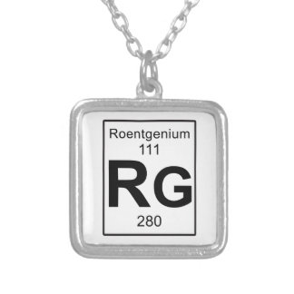 Rg - Roentgenium Silver Plated Necklace