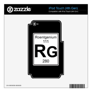 Rg - Roentgenium Skin For iPod Touch 4G