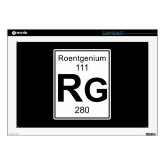 Rg - Roentgenium Skins Para 43,2cm Portátiles