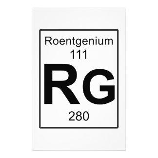 Rg - Roentgenium Stationery