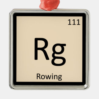 Rg - Rowing Sports Chemistry Periodic Table Symbol Metal Ornament