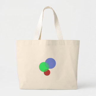 RGB Bubbles Large Tote Bag