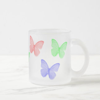 RGB Buttefly Frosted Glass Coffee Mug