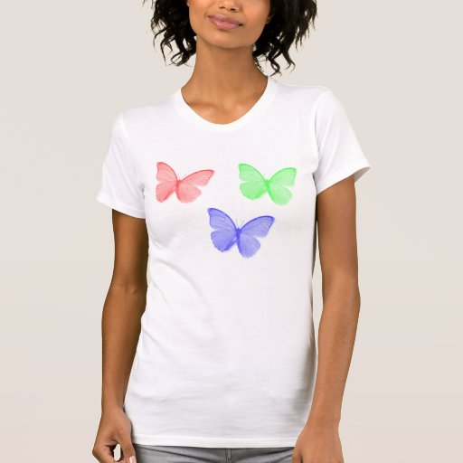 RGB Butterfly Camisetas
