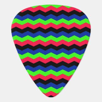 RGB Chevron Guitar Pick