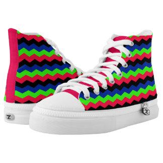 RGB Chevron High-Top Sneakers