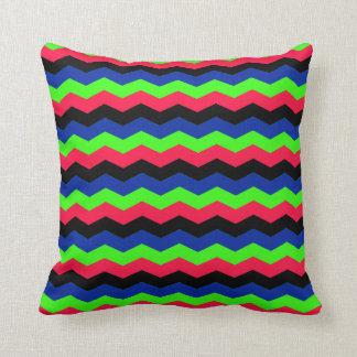 RGB Chevron Throw Pillow