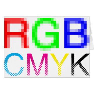 RGB CMYK CARD
