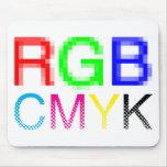 RGB CMYK MOUSE PAD