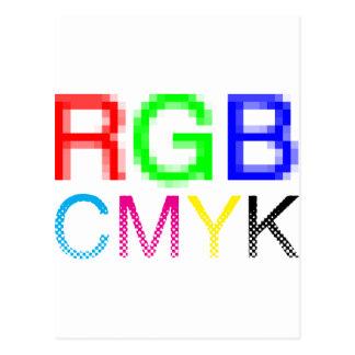 RGB CMYK POSTCARD