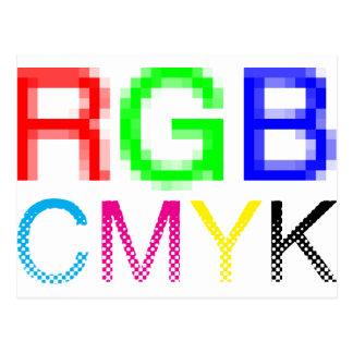 RGB CMYK POSTAL