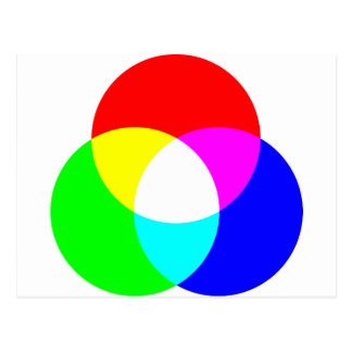 RGB color model Postcard