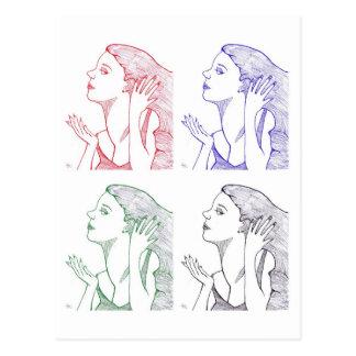 RGB Faces Postcard