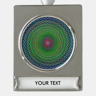RGB fractal Silver Plated Banner Ornament