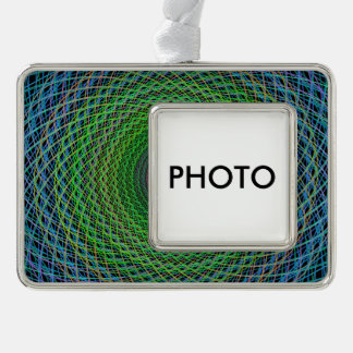 RGB fractal Silver Plated Framed Ornament