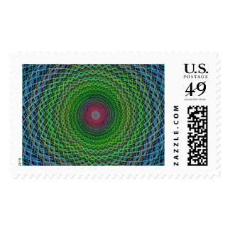 RGB fractal Postage
