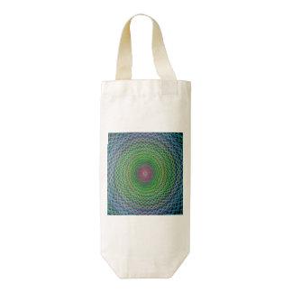 RGB fractal Zazzle HEART Wine Bag