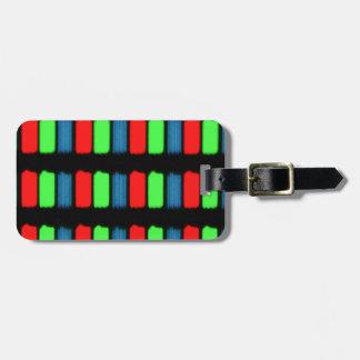 RGB LCD display micrograph Bag Tag