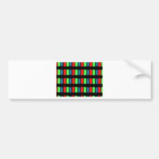 RGB LCD display micrograph Car Bumper Sticker