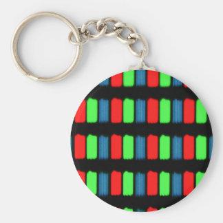 RGB LCD display micrograph Keychain