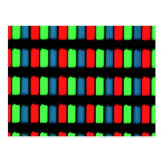 RGB LCD display micrograph Post Card