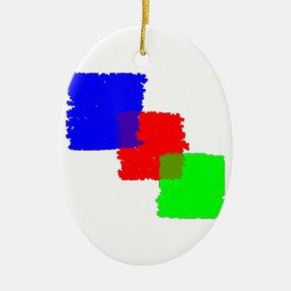 RGB Paintbrush Ceramic Ornament