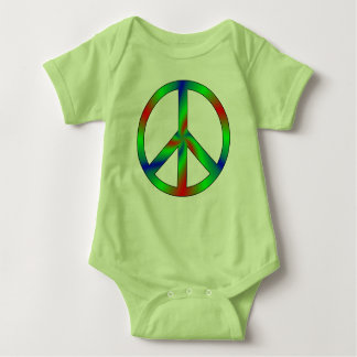 RGB Peace Sign Baby Clothing Baby Bodysuit