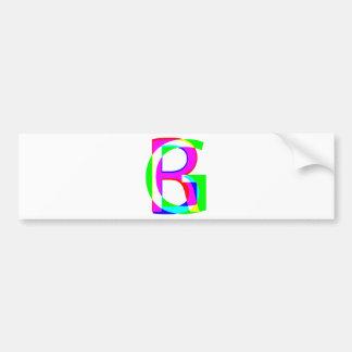 RGB pile Car Bumper Sticker