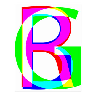RGB pile Postcard