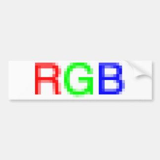 RGB-pixelated Bumper Sticker