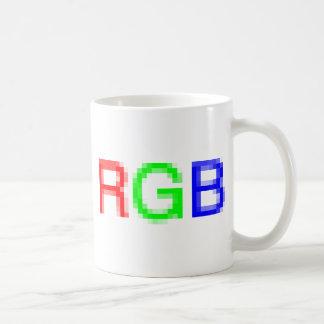 RGB-pixelated Classic White Coffee Mug