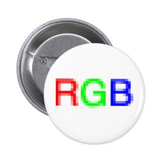 RGB-pixelated Pinback Button