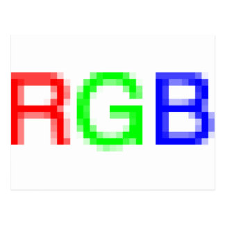 RGB-pixelated Postcard