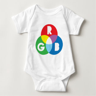 RGB Red Green Blue colur mixing Baby Bodysuit