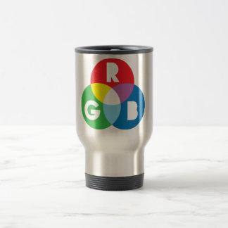 RGB Red Green Blue colur mixing Travel Mug