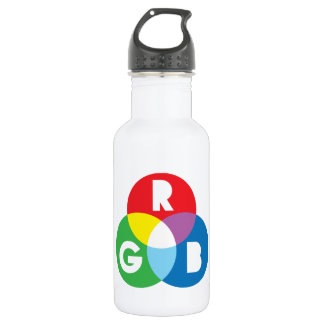 RGB Red Green Blue colur mixing Water Bottle