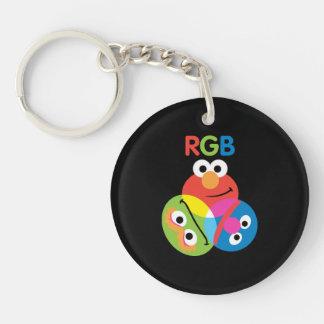 RGB Sesame Street Keychain