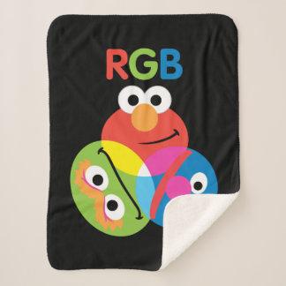 RGB Sesame Street Sherpa Blanket